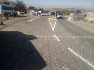 main gate project road marking